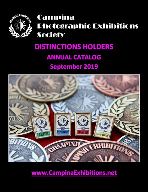 Campina Photographic Exhibitions Society - DISTINCTIONS HOLDERS ANNUAL CATALOG 2019