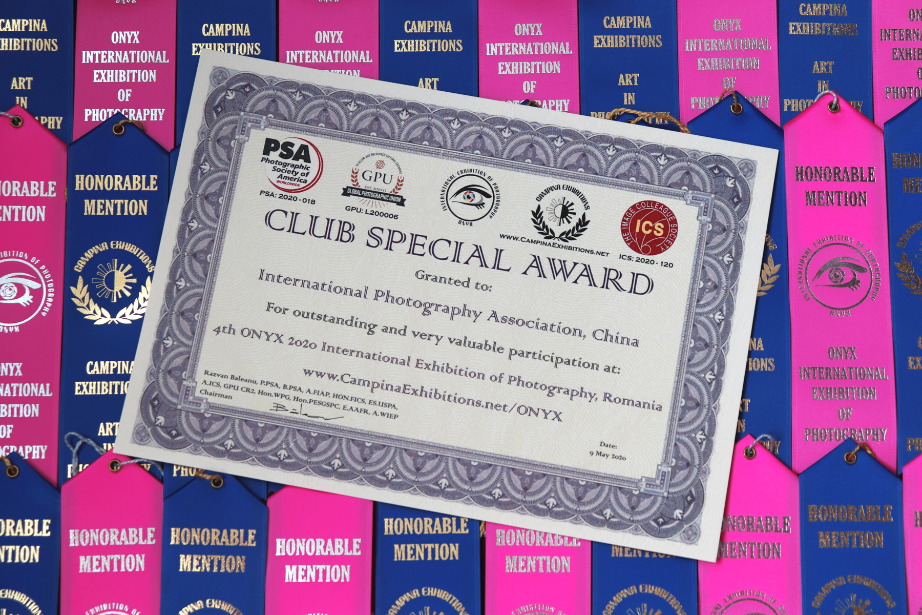 Presenting Club Special Award Diploma - International Photography Association, China