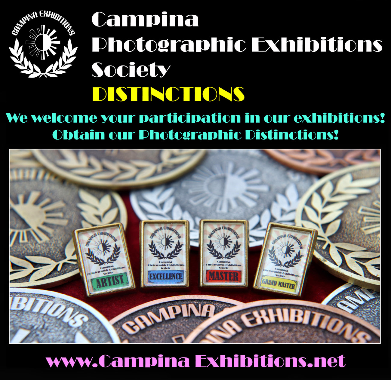 Campina Photographic Exhibitions Society Distinctions